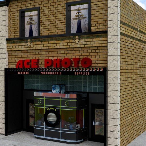 Art Deco Camera Store 3D Model