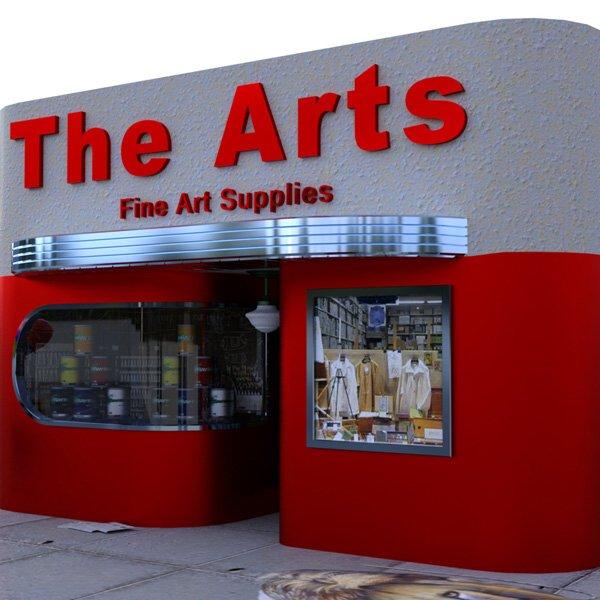 Art Deco Art Store 3D Model